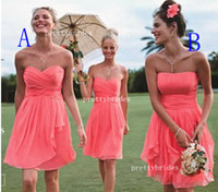 Wholesale 2014 Hot Sale Strapless Short A Line Chiffon Bridesmaid Dress for Wedding Party Dress Cocktail Dress E1228