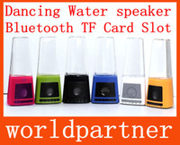 2.1 Universal HiFi Dancing Water Speaker Mini USB Flash SD Card Built in Battery Led Light Music Fountain Speakers Subwoofers for Iphone Samsung Mobile PC MP3