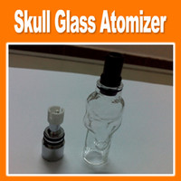 Electronic Cigarette electronic cigarette oil - 2014 new Skull Glass Tank Atomizer Dry Herb Vaporizer Solid Smoke Oil Clearomizer for ego battery Electronic Cigarette good
