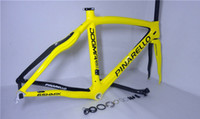 Wholesale Pinarello Dogma Think2 Yellow Bike Frames Super Carbon Fiber Mountain Bike Frame Weave K K DU K with Fork Headset Seat Tubes