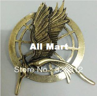 Wholesale New Fashion costume Brooches Jewelry Hot Moive The Hunger Games Catching Fire Brooch Pins Men Women Boy RJ1380