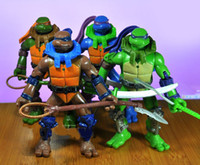 Wholesale Opp packageTeenage Mutant Ninja Turtles CM action figure doll toy set with light Free Shippping