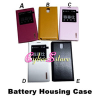 Wholesale AZNS S View Flip Leather Back Cover Battery Housing Case Cover For Samsung Galaxy Note III N9000 Automatic Sleep Wake Up Function