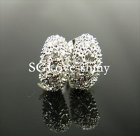 Wholesale SGLOVE LUXURY K White Gold Plated Earring Dazzling Cubic Zircoina Lab Created Diamond U Shape Studs Earrings For Women
