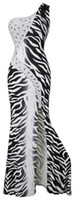 Reference Images angels zebras - 2016 New Arrival Angel fashions One Shoulder Rhrinestone Zebra Print Bodycon Style Prom Dress Party Dress Women Dress