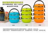 Wholesale 2014 hot selling Double layer stainless steel insulation children lunch box insulation boxes lunch box meal box