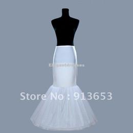 Wholesale Cola de pescado barato de la sirena de la enagua nupcial Coctel enagua de la falda del vestido de boda del aro white1 falda de crinolina del resbalón túnica blanca