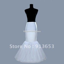 Fishtail cheap Mermaid Cocktail Bridal Petticoat skirt Underskirt white1 Hoop Wedding dress Crinoline Slip tunic skirt white