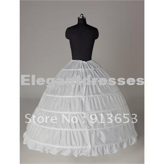 Hot sale Newest Gorgeous White 6 HOOP PETTICOAT crinoline SLIP Underskirt BRIDAL WEDDING dress Hot Sale!