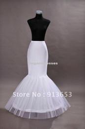 Wholesale HOOP Mermaid Trumpet Petticoat Crinoline Bridal Petticoat Underskirt Crinoline Bridal Accessories