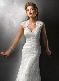Wholesale new vestido de noiva vintage organza lace luxury crystal beaded wedding dresses mermaid bridal gowns with detachable belt