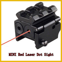 Wholesale Tactical Compact Pistol Low Profile Rifle Red Laser Dot Sight Scope with Mounts