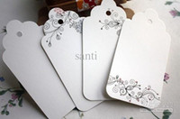 Wholesale Flower pattern Bookmark label Hang tag Coffee kraft paper gift card tag Message card
