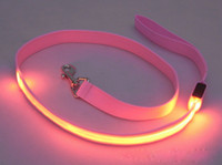 Waterproof LED pet dog collars leashes night flashing led pe...