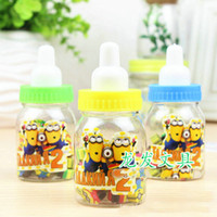 Wholesale Erasers New Cute Despicable ME Cartoon Erasers Office Rubber Eraser Gift stationery Cartoon stationery