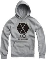 Wholesale 2014 New Hot EXO long sleeve T SHIRT Women Men hoodies Couple SHIRT SHOWCASE t shrts Fleece Sweatshirts