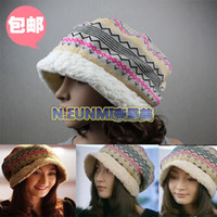 Wholesale Women s cap bucket hats autumn and winter hat knitted hat knitted warm hat popular hat