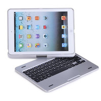 Wholesale 360 Degree Rotatable Silver Aluminum Wireless Bluetooth Keyboard Case Cover Stand For Apple iPad iPad Air