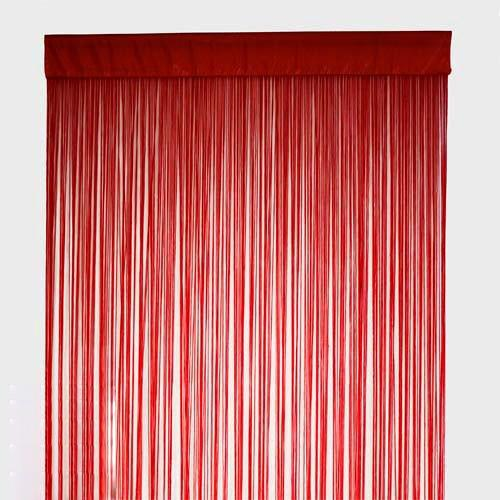Wine Red String Curtain Fringe Curtain Panel For Weddings