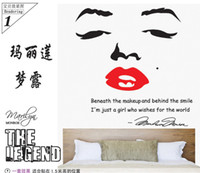 Wholesale Three generations of creative wallpaper sofa can delete the bedroom TV setting wall stick star Marilyn Monroe sticker