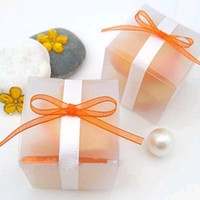 Wedding   Wholesale--New Arrivals--50pcs 5cm*5cm*5cm Matte Wedding Favor Box Gift Candy Boxes Wedding Decoration-Free Shipping