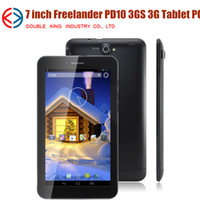 Wholesale Freelander PD10 HD Screen WCDMA G GPS bluetooth Phablet quot Tablet PC android4 MTK8312 Dual Core GHz Dual Sim Dual camera phone call