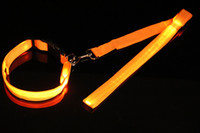 6 colrs 2. 5*120CM Waterproof LED pet dog collars leashes fla...