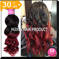 Wholesale ombre hair mix length Weave Extension Weave A Natural Wave Human Hair Ombre Hair A
