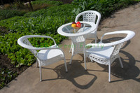 garden furniture - new pe rattan garden furniture garden table and chair