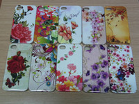Wholesale Mix Design Ink Flower Cell phone mobile Cases Covers for iphone4s Iphone5s