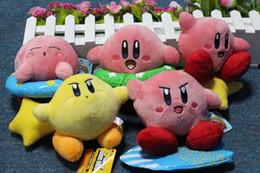 5inch Super Mario Bros Kirby 1 set of 5 piece Plush Toy Stuffed Doll Toys Retail