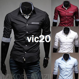Wholesale new Men s Trend minutes of sleeve shirt Size M XXL