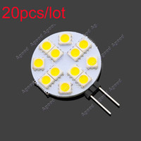 Wholesale 20pcs Hot selling G4 SMD LED Light Warm white Bulb Lamp DC V