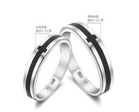 Wholesale Top fashion Sterling Silver Ring lovers Ring Black Agate Ring lovers ring high quality mix cheap