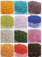 Spacers Fashion Beads 2mm 3000pcs 14 colors can choose DIY Loose Spacer Mini glass Czech Seed beads with silver inner Jewelry findings free shipping