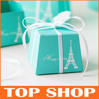 Wholesale Tiffany Favor Holders European Creative Wedding Gift Box High grade Cardboard Favors Candy Boxes