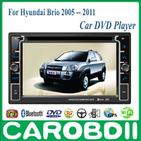 Wholesale Android HYUNDAI Brio Car DVD Player With GPS G Radio Wifi Hotspot RDS Analong TV bluetooth Brio HYUNDAI