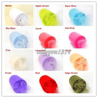 Wholesale Tulle Rolls quot x100yd Spool Tutu DIY Craft Wedding Party Decorations Banquet Home Fabric Decor Bow
