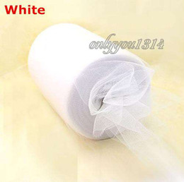 Wholesale 6 quot x100yd Spool White Tulle Rolls Tutu DIY Craft Wedding Banquet Home Fabric Decor Bow