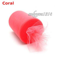 fabric tulle - Coral Tulle Roll Tutu DIY Craft Wedding Christmas Home Fabric Decor