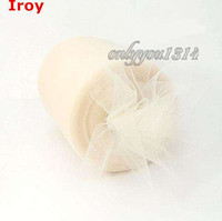 Wholesale 6 quot x100yd Spool Ivory Tulle Rolls Tutu DIY Craft Wedding Banquet Home Fabric Decor Bow