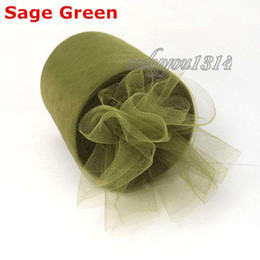 Wholesale 6 quot x100yd Spool Olivine Sage Green Tulle Rolls Tutu DIY Craft Wedding Banquet Home Fabric Decor Bow