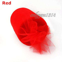 Wholesale 6 quot x100yd Spool RED Tulle Rolls Tutu DIY Craft Wedding Banquet Home Fabric Decor Bow