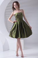 Reference Images Taffeta Strapless Simple Taffeta Strapless Short Mini Homecoming Prom Dresses Junior Bridesmaid Dresses