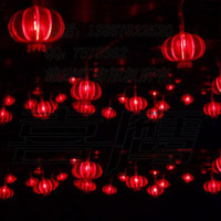 Wholesale M LED string light with Dia mm red Chinese style lantern holiday wedding christmas tree shop lamp