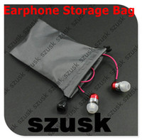 Earphone Storage Bags Grey Color Cheap Fabric Earbuds Access...