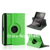 Wholesale Kindle Fire HD Case Degree Rotating Stand Leather Pouch Case for Amazon Kindle Fire HD Inch DHL Shipping