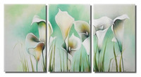 Wholesale Framed Panel Large Abstract Painting Lily Flower Unique Gift Piece Wall Art Picture XD01967