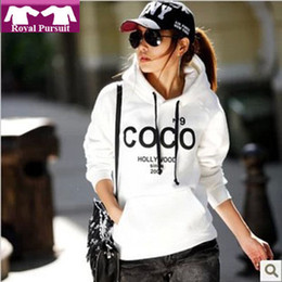Wholesale HOT Selling new fashion Women s COCO Printed Hoodies Leasure Track Sweatshirt Tops Outerwear With Hat QC1006