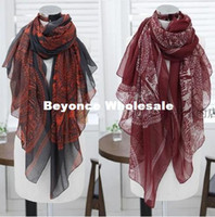 Wholesale New Fashion Fall Winter Scarf Voile Bali yarn Deer pattern printing Scarf long Beach Scarf size cm RJ1733